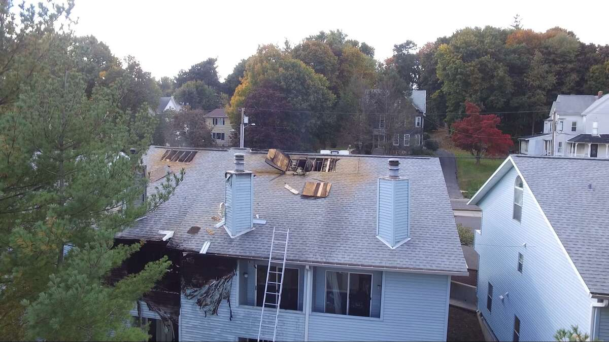 A fire heavily damaged two condo units on Grand Street in Danbury on Oct. 17.