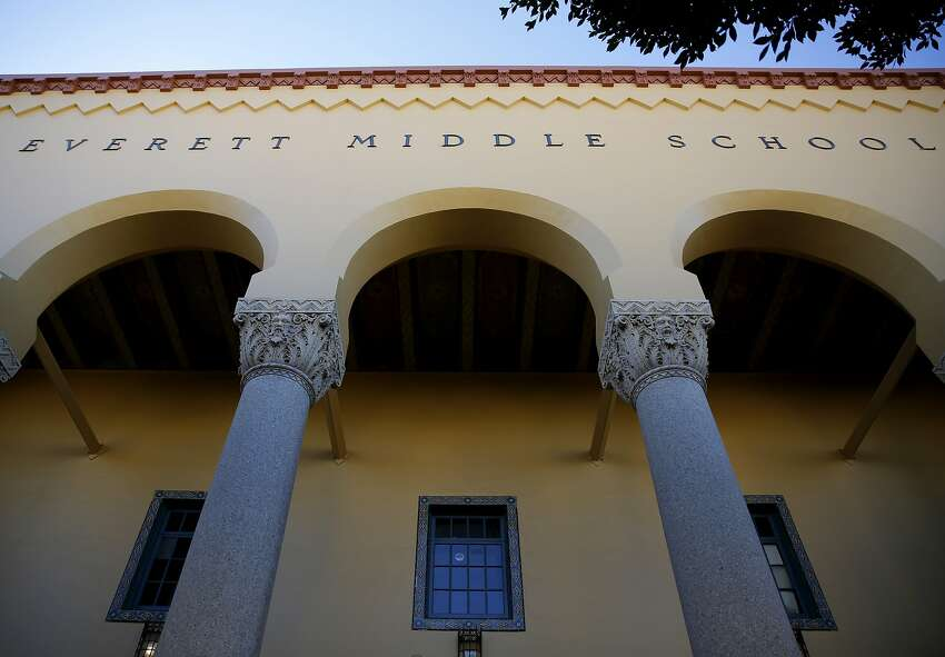 Everett Middle School in San Francisco, California, on Monday, Oct. 19, 2015.