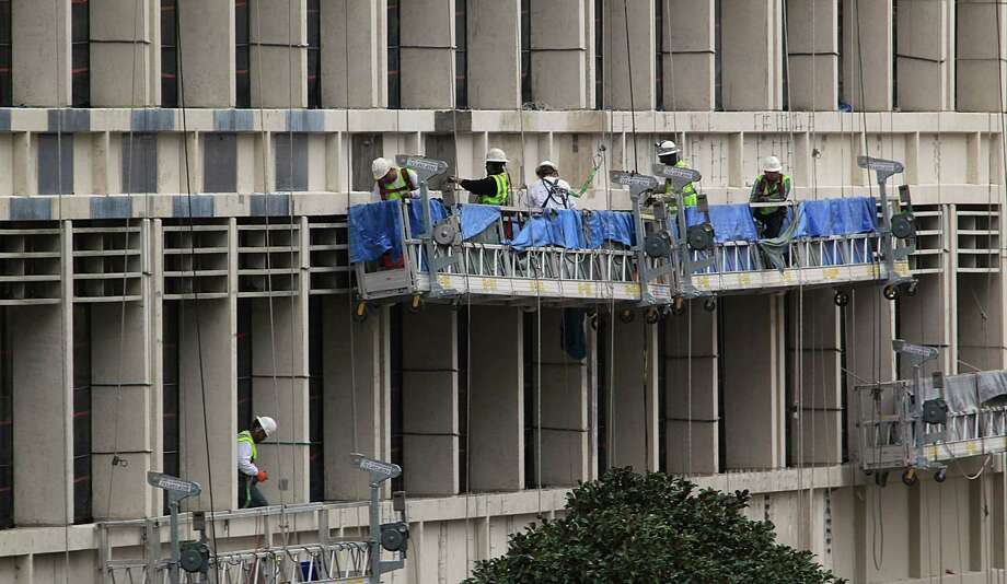 Construction work on the Harris County Administration Building Tuesday, March 10, 2015, in Houston. ( James Nielsen / Houston Chronicle ) Photo: James Nielsen, Staff / © 2015  Houston Chronicle