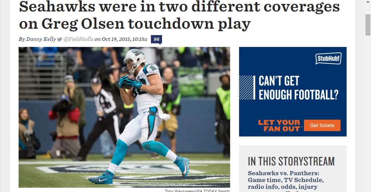 A great deal of the Week 6 postgame analysis centered around Cam Newton's game-winning touchdown pass to Greg Olsen in the final minute.After the game, members of the Seattle secondary admitted that there was a miscommunication and that they ended up running two different coverages, allowing Olsen to slip behind them virtually uncontested. Danny Kelly of FieldGulls delved into the specifics.
