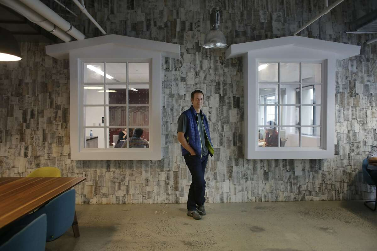 Tim Westergren, Pandora founder, stands for a portrait in a recent expansion of the Pandora office on Monday, October 20, 2015 in Oakland, Calif.
