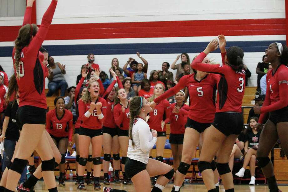 The Fort Bend Austin volleyball team has had plenty to celebrate so far in 2015. Photo: Fort Bend Austin