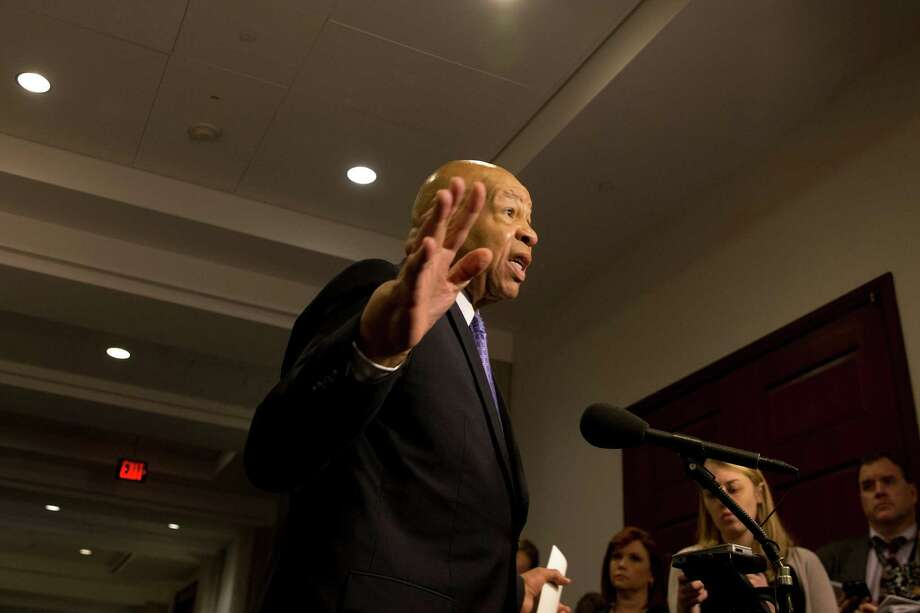 """In a statement, Rep. Elijah Cummings, D-Md., says, """"It's time to bring this taxpayer-funded fishing expedition to an end."""" Photo: Stephen Crowley /New York Times / NYTNS"""