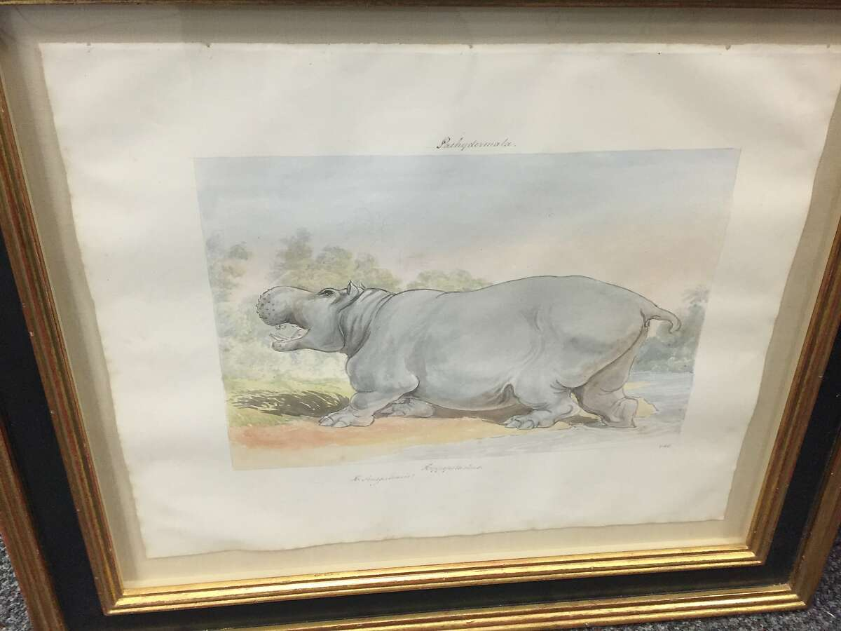 One of 11 pieces of art allegedly stolen by a man squatting in a San Francisco mansion for up to two months who was arrested Sunday, Oct. 18, 2015.