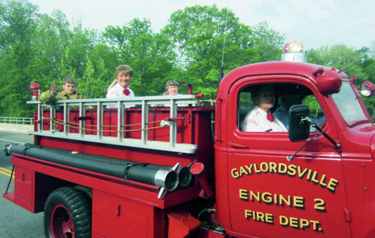 A vintage fire truck in the Gaylordsville Memorial Day parade and ceremony 2015. The Gaylordsville Volunteer Fire Department open house is Saturday from 10 a.m. to 2 p.m.