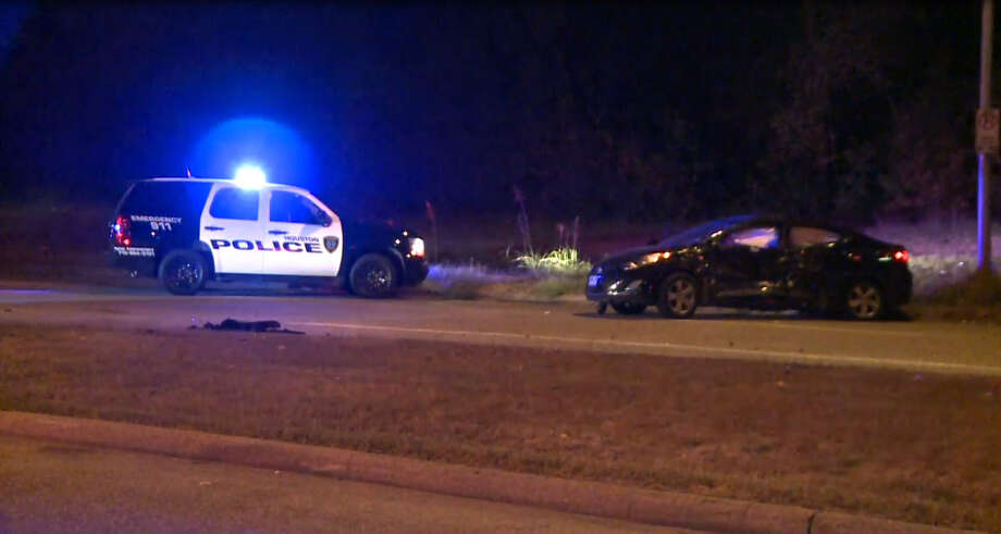 A 15-minute high speed chase ended with a T-bone crash at Rankin and Northborough. Two suspects were arrested and a third fled. Photo: Metro Video