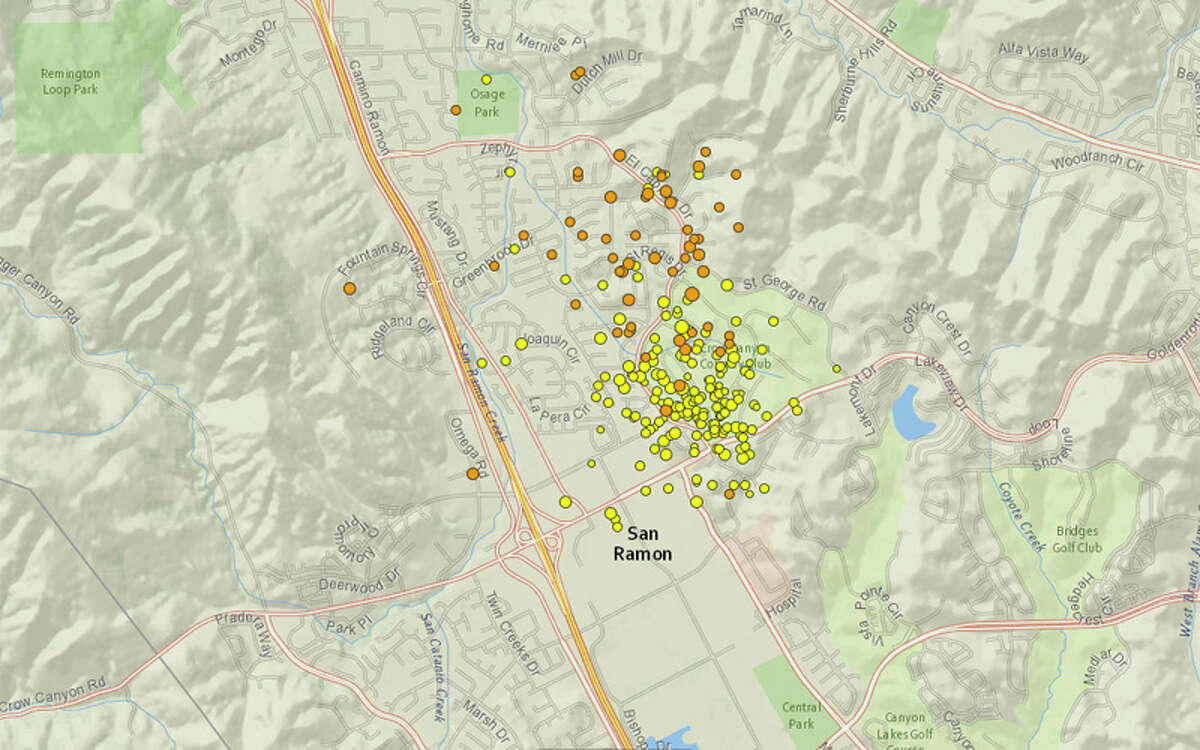 A swarm of earthquakes have continued to rock San Ramon in the East Bay for the past week.
