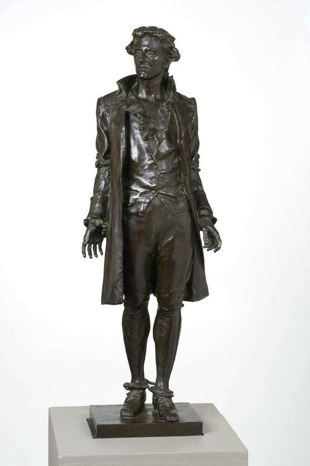 Frederick William MacMonnie's bronze sculpture of patriot Nathan Hale. Photo: Contributed Photo / Connecticut Post / Norwalk Citizen