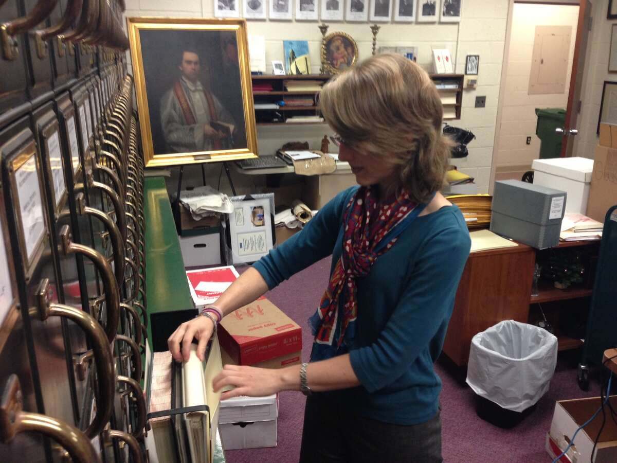 Emily Bartram has been hired as the new archivist of the Archdiocese of Hartford.