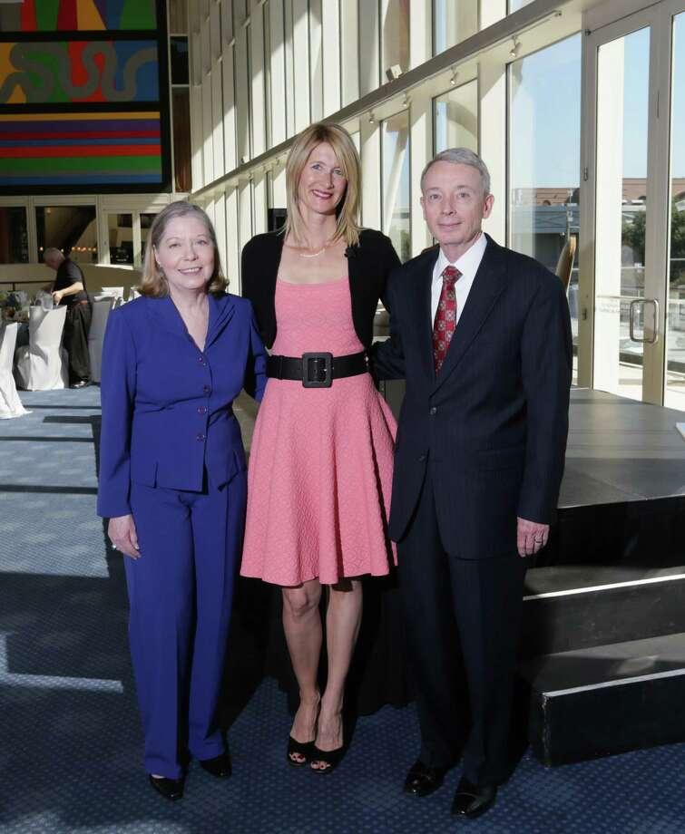 Honorees Nancy, left, and Charles Davidson and Laura Dern Photo: Jon Shapley, Staff / © 2015  Houston Chronicle
