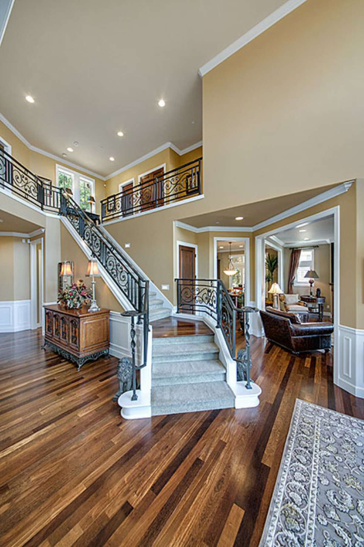 Here's the entry to the home at 1756 Harrison Way N.E. The home is listed for $1.5 million, and a sale is pending.
