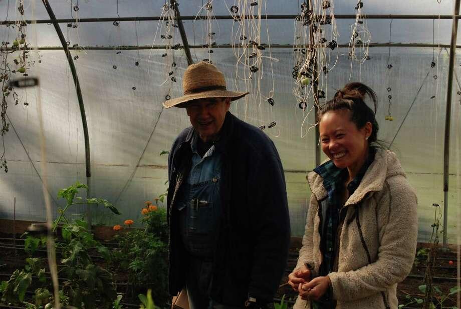John Holbrook, owner of Holbrook farm, and Jessica Wong, farm manager. Photo: Reece Alvarez / Contributed Phot