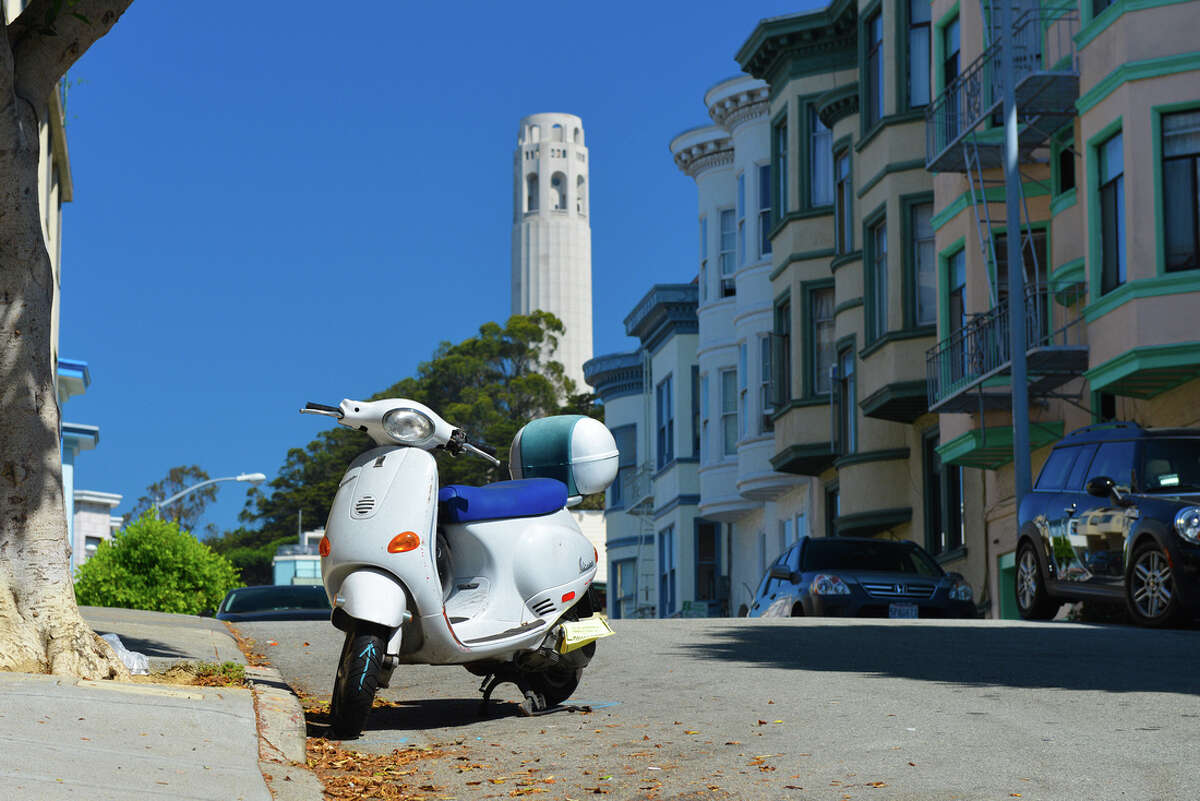 A shot of Coit Tower in San Francisco.