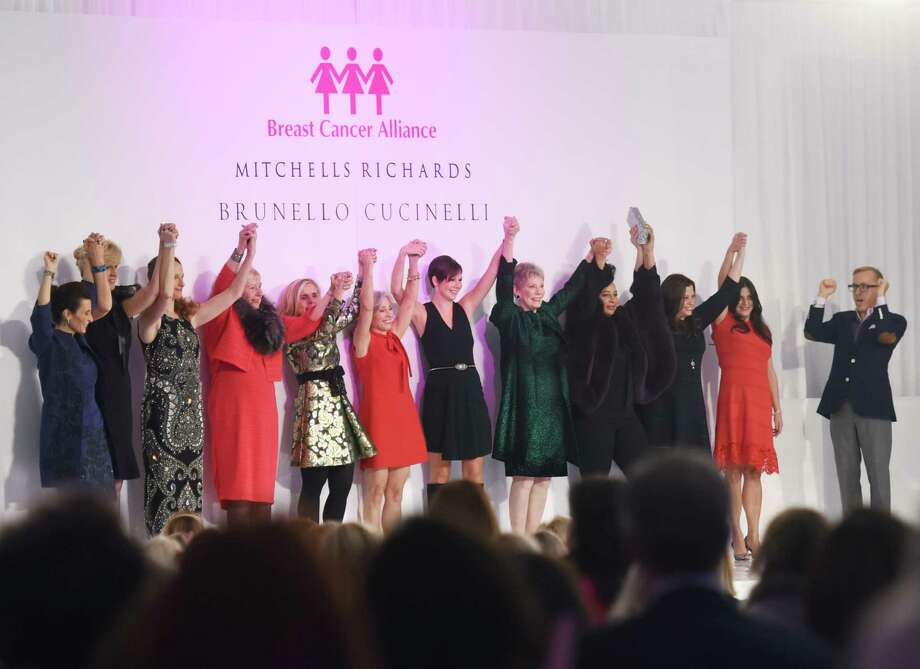 "Breast cancer survivors models autumn fashions from Richards of Greenwich at 2014's ""Branching Out, Coming Together, Aspiring to a Cure"" fashion show benefiting the Breast Cancer Alliance at the Hyatt Regency in Greenwich, Conn. The 2015 luncheon will be held on Thursday at the Hyatt. Photo: Tyler Sizemore / Tyler Sizemore / Greenwich Time"