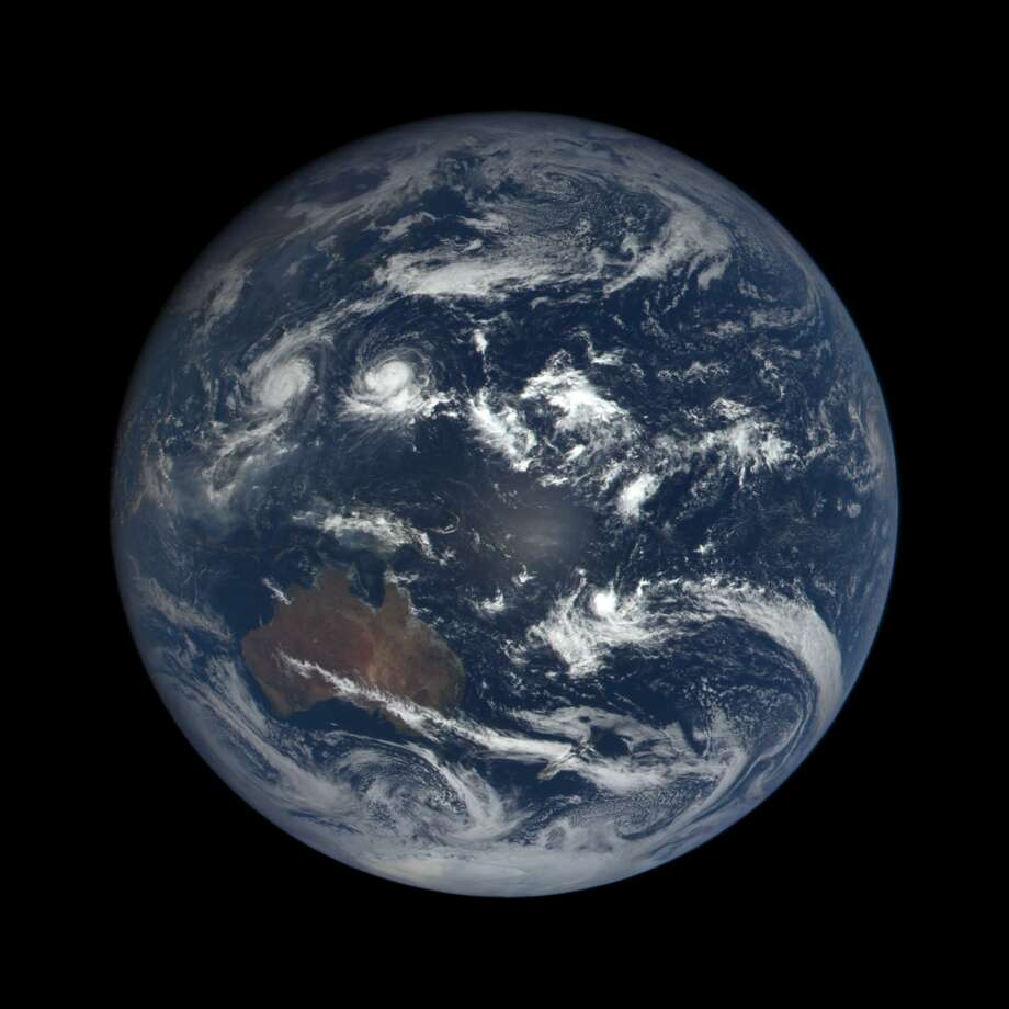 The Earth as seen from space on Oct. 17. (This image was taken by NASA's EPIC camera onboard the NOAA DSCOVR spacecraft) Photo: NASA