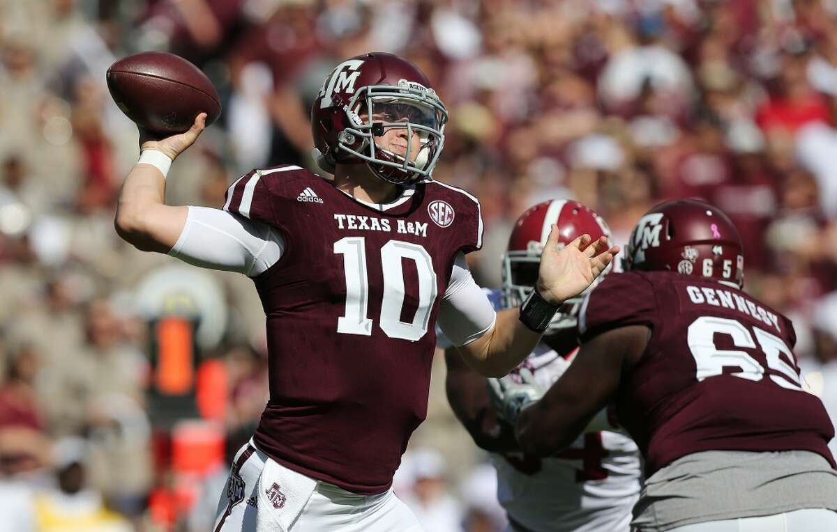 A&M quarterback Kyle Allen (10) will try to regroup Saturday after throwing three interceptions returned for touchdowns in last week's loss to Alabama. ( Elizabeth Conley / Houston Chronicle )
