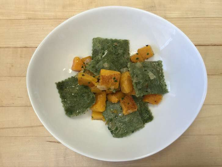 Spinach Ravioli with Roasted Butternut Squash