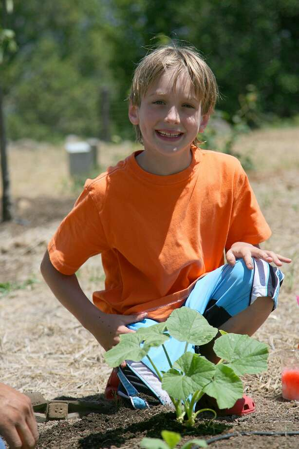 Wyeth Coulter in 2007, in the family's pumpkin field. Photo: Courtesy Of Coulter Family