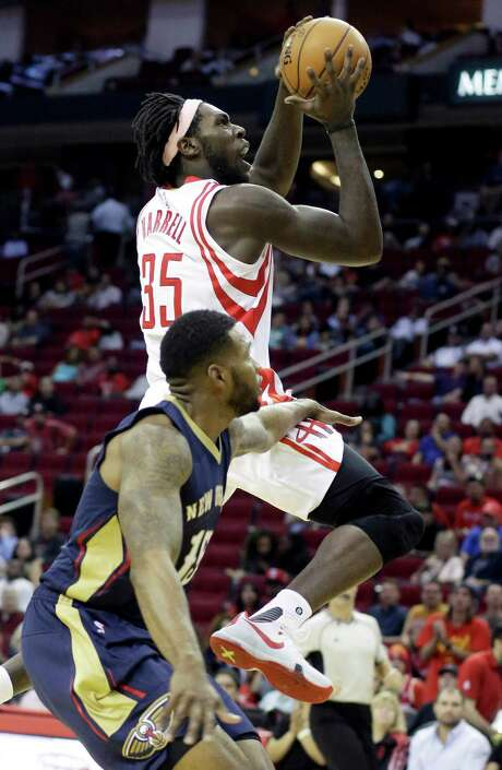 Rockets rookie forward Montrezl Harrell is shooting 60.9 percent in the preseason. Photo: Pat Sullivan, STF / AP