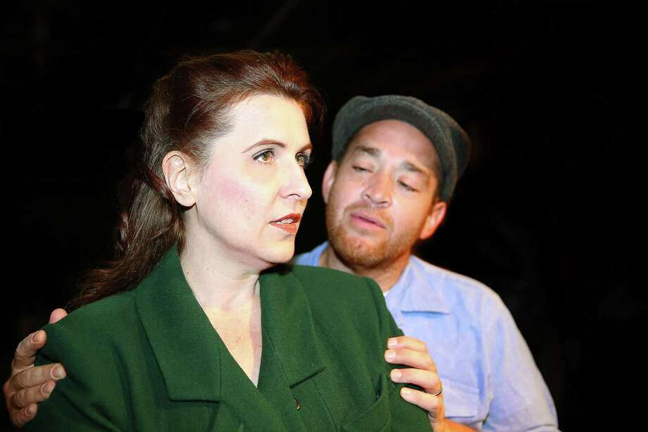Above, Melissa J. Mayo, John Mitsakis.  Theatre Southwest presents the Arthur Miller classic éA View From The Bridgeé. Arthur Miller's classic drama of love, Jealousy, and cultural allegiances. Longshoreman, Eddie Carbone is protective of his family, in particular, his neice Catherine. When Eddies wife's cousins arrive (illegally) from Italy, and Catherine begins dating the handsome Rodolpho, Eddie has to deal with his own conflicting feelings toward her. Photo: Scott McWhirter