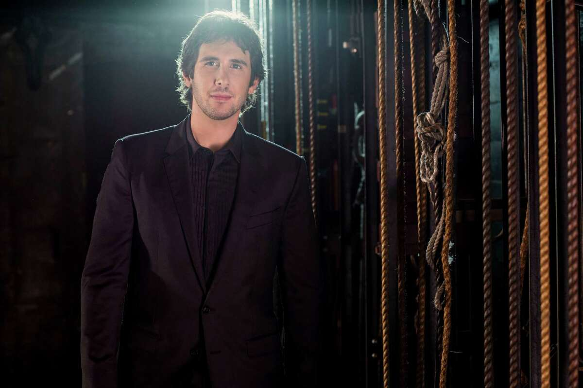 Josh Groban says he is better with his voice than with his jazz hands.