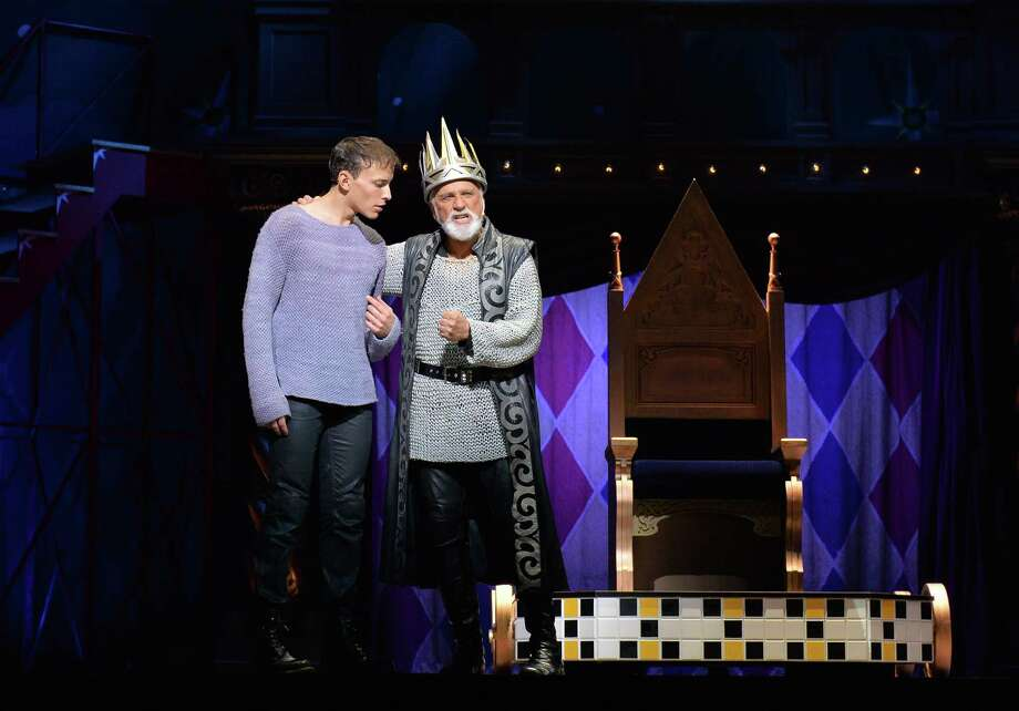 "Brian Flores (left) has the title role and John Rubinstein plays his father King Charles (aka Charlemagne) in the national tour of ""Pippin."" Photo: Shinobu Ikazaki"