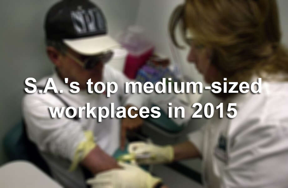 Click through the slideshow to see the top 20 midsize businesses in San Antonio, according to the Top Workplaces survey.