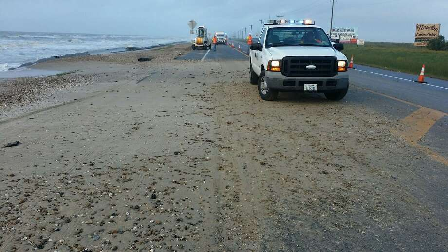 The Texas Department of Transportation is preparing for a weekend of work on the Bolivar Peninsula as tropical disturbances move high tides and ocean debris over coastal roads.