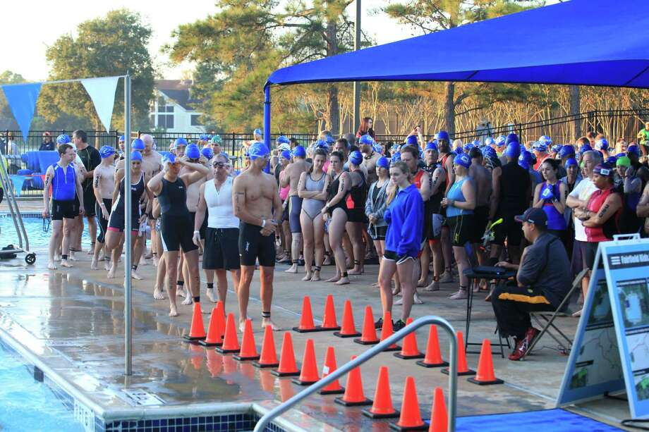 The Cy-Fair Emergency and Imaging Center Triathlon at Fairfield will be Oct. 25. Athletes will bike, swim and run. Photo: David Fink