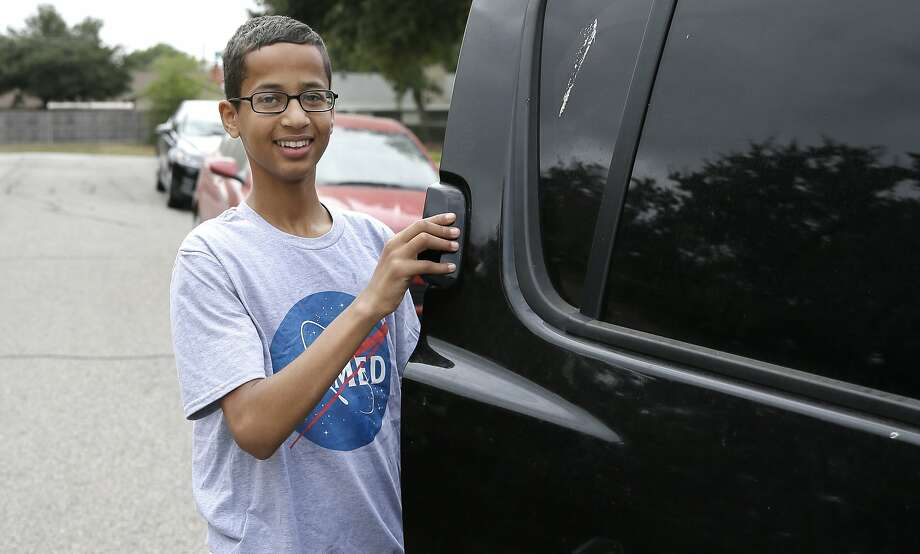 Ahmed Mohamed, with a full scholarship for high school and college, is moving to Qatar with his family. Photo: LM Otero, Associated Press