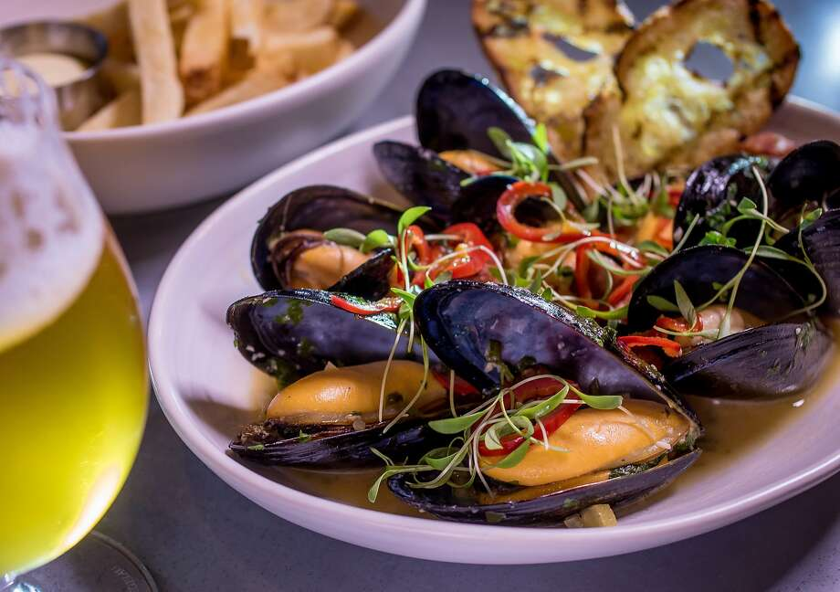 The Mussels with a Firestone Walker Opal Ale at Sessions at the Presidio restaurant in San Francisco, Calif. is seen on Tuesday, October 20th, 2015. Photo: John Storey, Special To The Chronicle