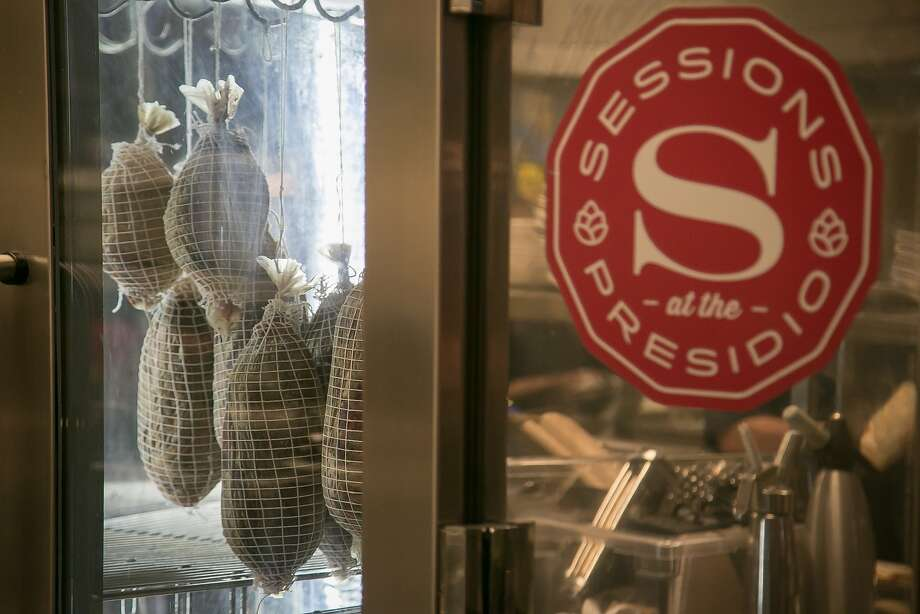 Meats curing at Sessions at the Presidio restaurant in San Francisco, Calif. are seen on Tuesday, October 20th, 2015. Photo: John Storey, Special To The Chronicle