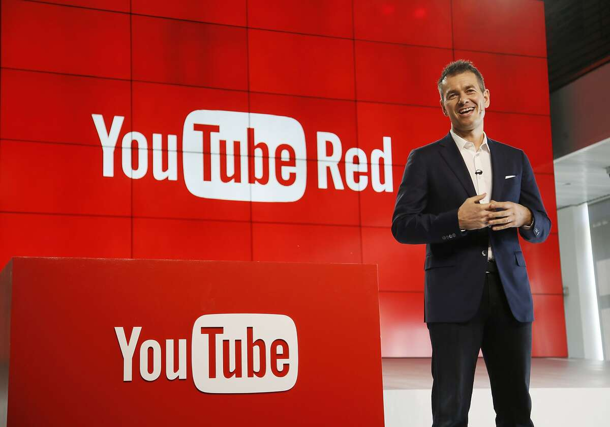 Robert Kyncl, YouTube Chief Business Officer, speaks as YouTube unveils