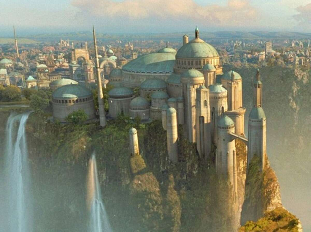 ...the Royal Palace of Theed, where Natalie Portman ruled as Queen Amidala of Naboo in Episode 1.