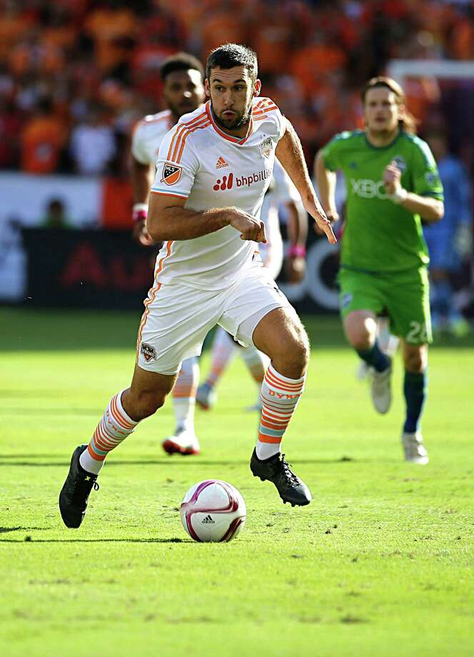 Dynamo forward Will Bruin led the club with 11 goals and added four assists this season. He admits the team, which missed the playoffs, had an uneven season. Photo: James Nielsen, Staff / © 2015  Houston Chronicle