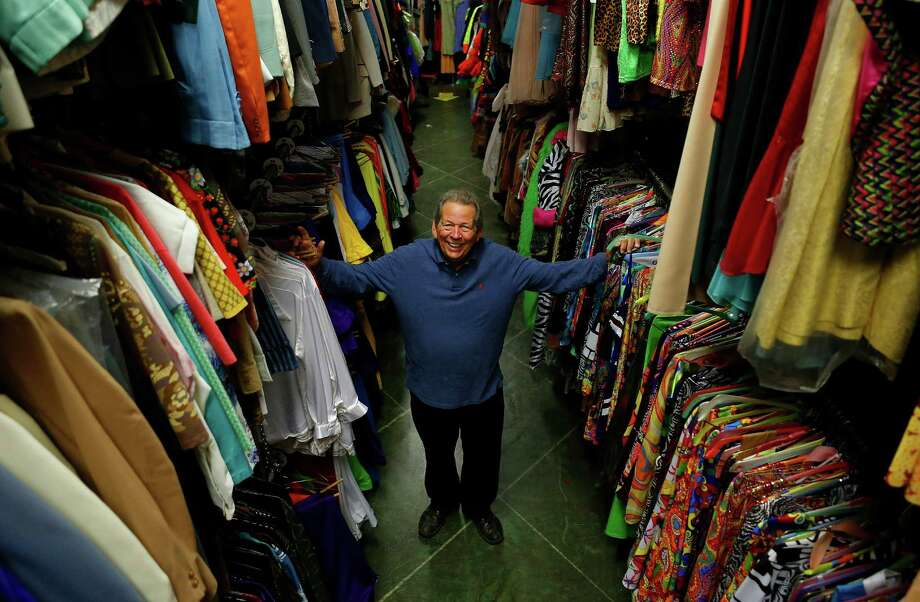 "Bob Wright, owner of Party Boy, shows off some of the goods he has available. ""Halloween is some 40 percent of our business,"" he says. Photo: Mark Mulligan, Staff / © 2015 Houston Chronicle"