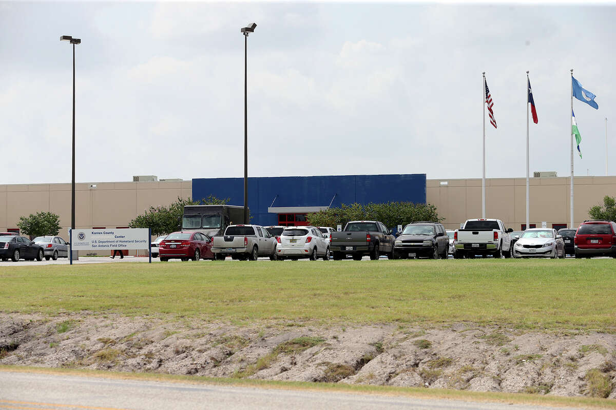 The facility appears quite in the morning as smuggled children from Central America are being detained in the Karnes County Civil Detention Center on August 1, 2014.