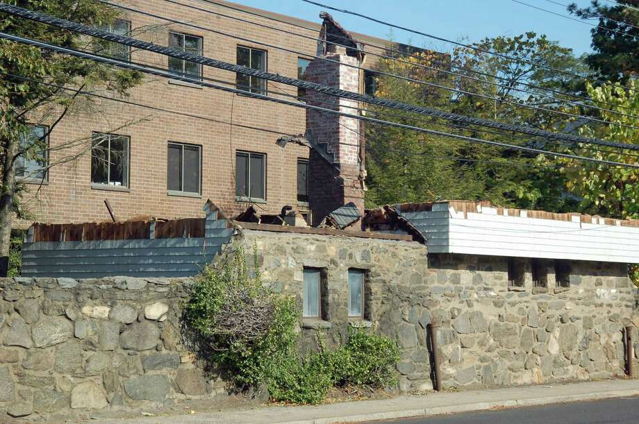 Planning and Zoning Commission are abgry that this structure at 599 West Putnam Ave. was demolished without authorization. Photo: Contributed / Contributed Photo / Greenwich Time Contributed
