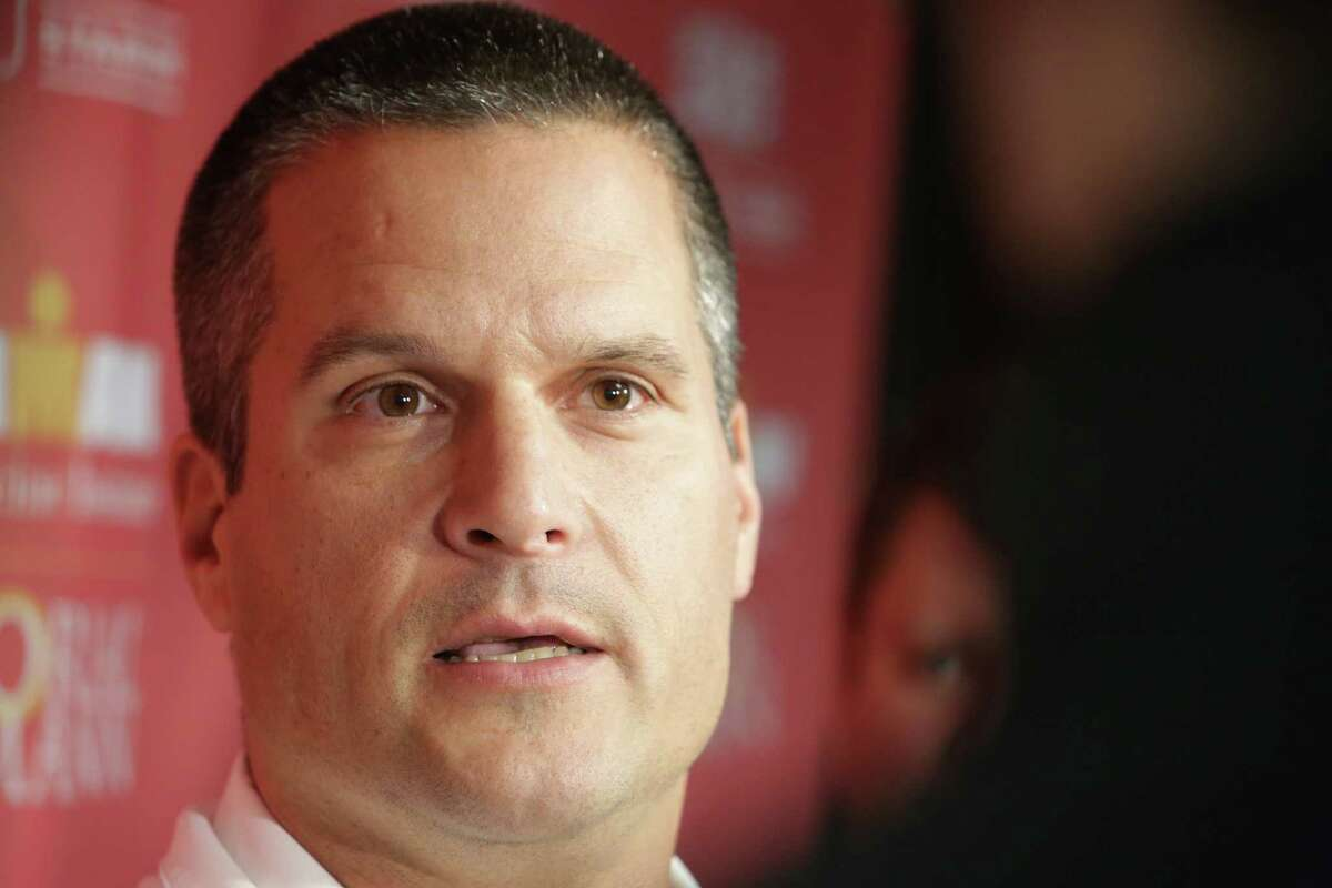 University of Houston football defensive coordinator Todd Orlando meets with press at theUniversity of Houston, Wednesday January 14, 2015. (Billy Smith II / Houston Chronicle)