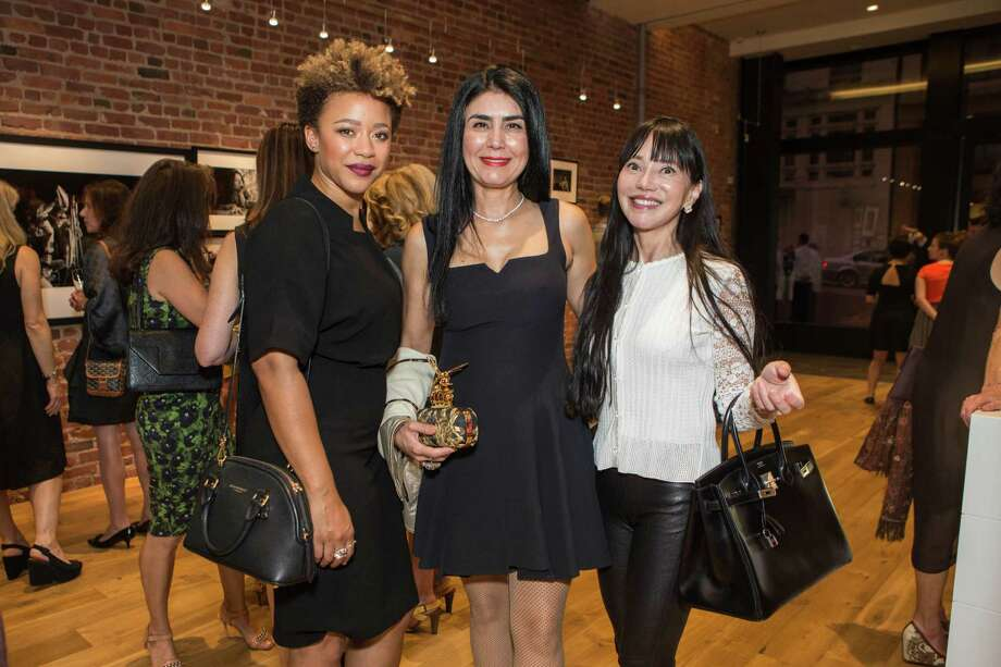 Michelle Daniels, Afsaneh Akhtari and France Szeto at the SFMOMA Contemporary Vision Award launch party on Oct. 8, 2015. Photo: Jana Asenbrennerova For Drew Alt, Drew Altizer Photography / © Drew Altizer Photography 2015