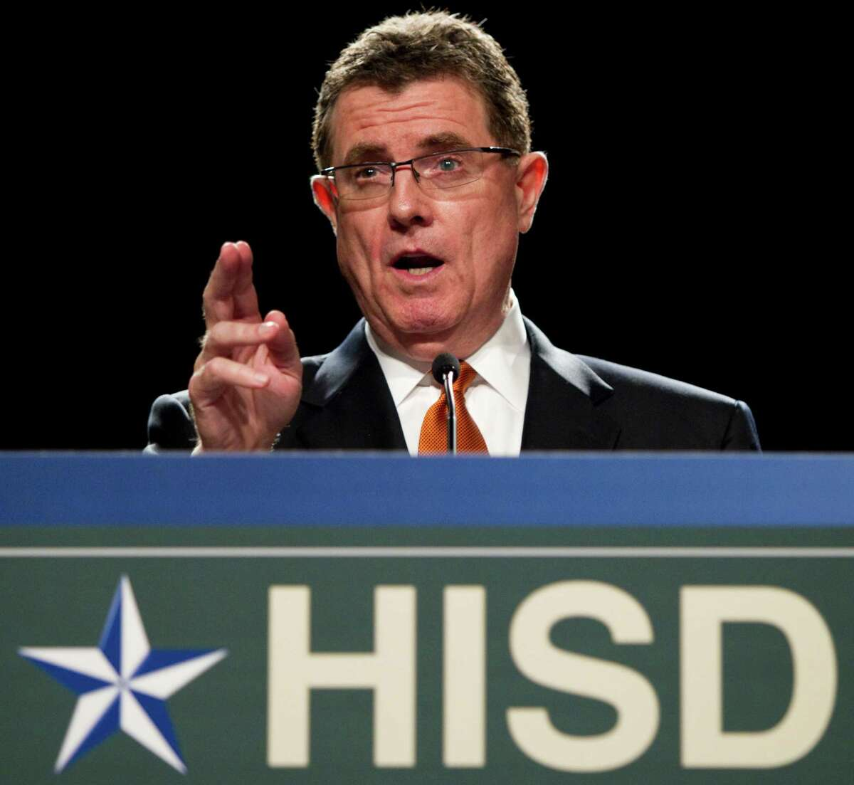 Houston Independent School District Superintendent Terry Grier said students' safety is the district's No. 1 priority. HISD received a threat targeting unnamed campuses. The L.A. school system received a similar threat earlier this week. Keep clicking to see photos from the scare that closed schools.