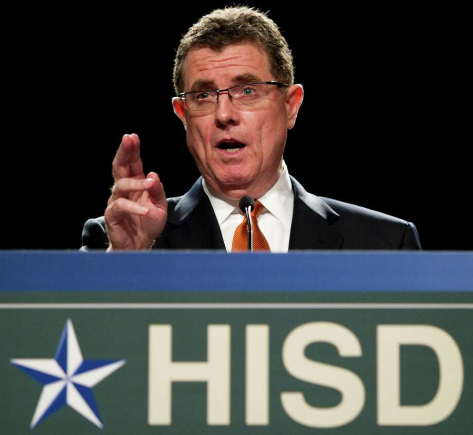 Houston Independent School District Superintendent Dr. Terry Grier speaks during the HISD 2011 State of the Schools address Thursday, Feb. 17, 2011, in Houston. ( Brett Coomer / Houston Chronicle ) Photo: Brett Coomer, Staff / Houston Chronicle