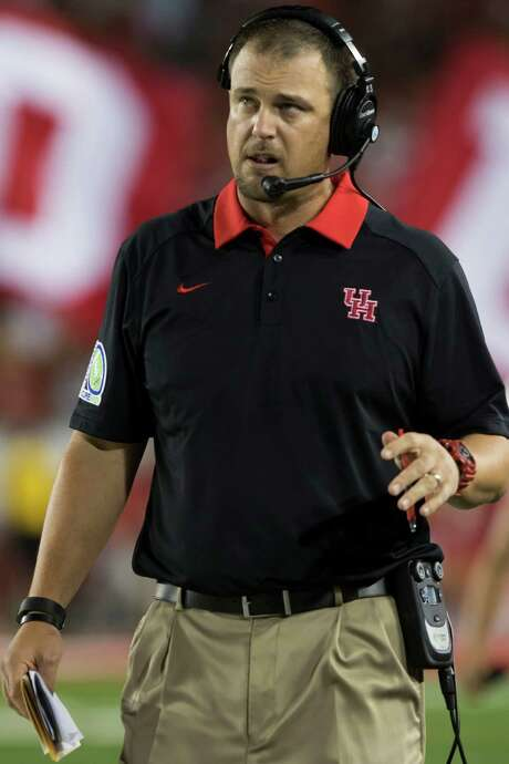 UH coach Tom Herman  is making a name for himself across the nation with his Cougars a perfect 6-0 and ranked No. 21. Photo: Joe Buvid, Freelance / © 2015 Joe Buvid