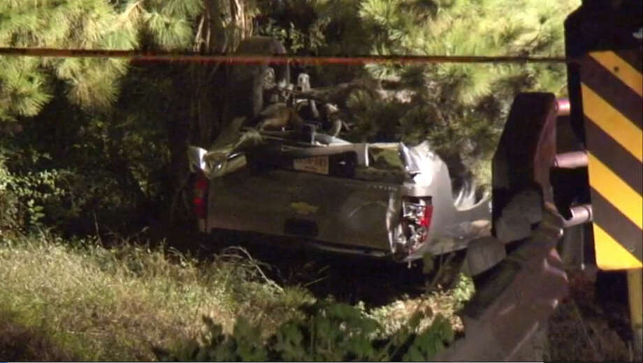 A drunk driver died on the way home from his birthday celebration. He wasn't wearing a seat belt when he flipped the vehicle, was ejected and crushed. Photo: Metro Video