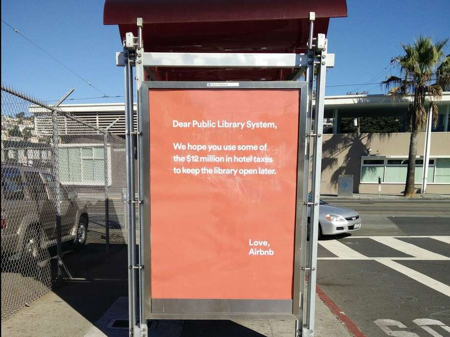 An airbnb advertisement in San Francisco. Photo: Martha Kenney