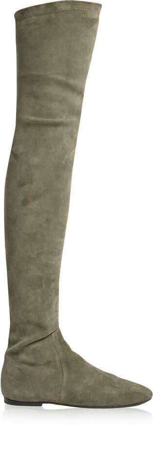 Isabel Marant  toile Brenna over-the-knee boot, $1,035, at netaporter.com / Net-a-Porter