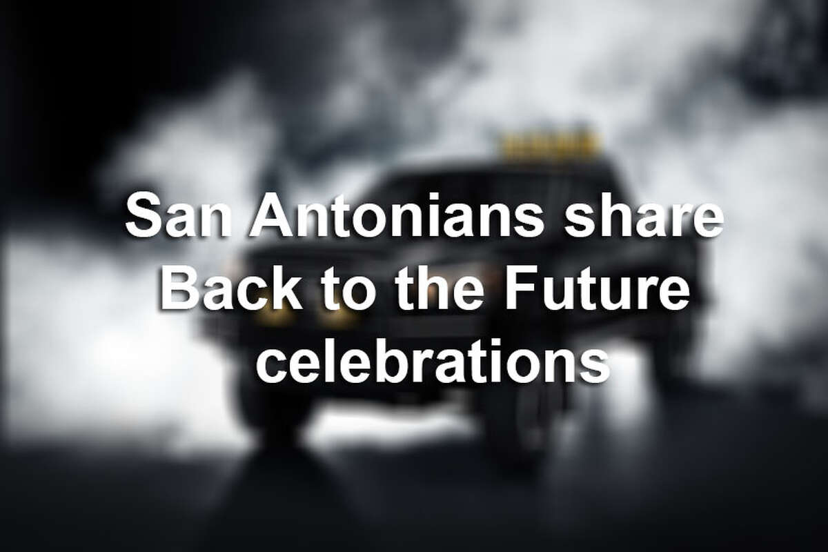 San Antonians, including Tony Parker, celebrated Back to the Future Day on Oct. 21, 2015 and showed off their memorabilia and jokes on social media.