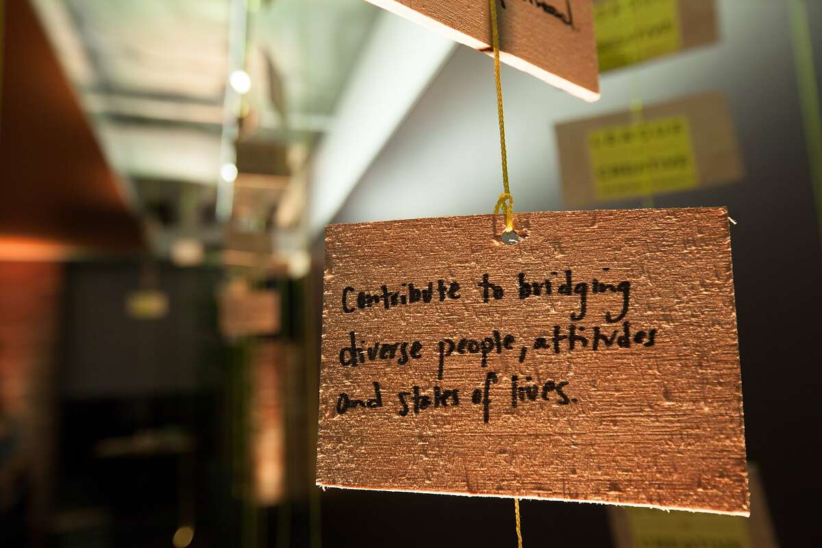Personal notes were written by guests during the Google Impact Challenge award reception, Wednesday, Oct. 21, 2015, in San Francisco, Calif. 25 nonprofits received up to a $250,000 grant for their projects that would help improve the Bay Area. The top projects received a $500,000 grant.