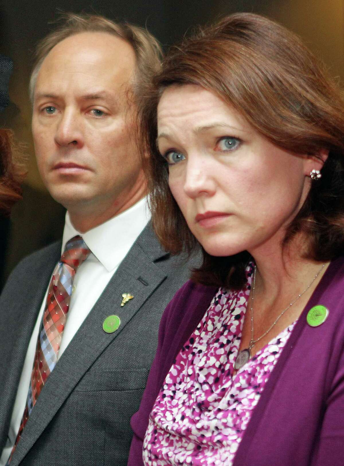 Mark Barden and Nicole Hockley, founders and managing directors of Sandy Hook Promise. File photo.