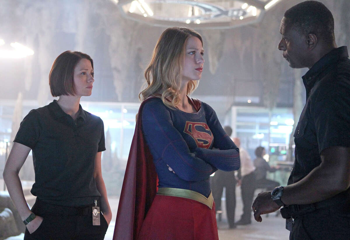 """Melissa Benoist plays the title role in the new CBS series """"Supergirl"""" alongside Chyler Leigh, as her older foster sister, Alex, and David Harewood."""